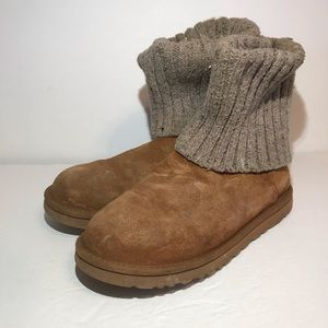 UGG Cambridge Sweater Knit Cuff Ankle Boots Sz 9